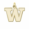 Washington Huskies 14K Yellow Gold Natural Finish Cut Out Logo Charm