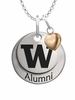 Washington Huskies Alumni Necklace with Heart Accent