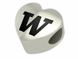 Washington Huskies Heart Shape Bead