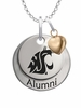 Washington State Cougars Alumni Necklace with Heart Accent