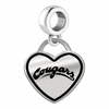 Washington State Cougars Border Heart Dangle Charm
