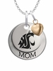 Washington State Cougars MOM Necklace with Heart Charm