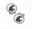 Washington State Cougars Sterling Silver Cufflinks