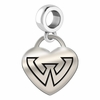 Wayne State Engraved Heart Dangle Charm