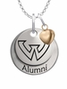 Wayne State Warriors Alumni Necklace with Heart Accent