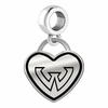 Wayne State Warriors Border Heart Dangle Charm