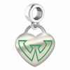 Wayne State Warriors Color Heart Dangle