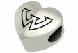 Wayne State Warriors Heart Shape Bead