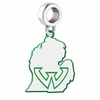 Wayne State Warriors Logo Dangle Charm
