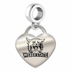Weber State Engraved Heart Dangle Charm