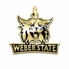 Weber State Wildcats 14KT Gold Charm