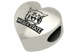 Weber State Wildcats Heart Shape Bead