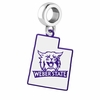 Weber State Wildcats Logo Dangle Charm