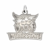 Weber State Wildcats Natural Finish Charm