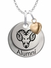 West Chester Golden Rams Alumni Necklace with Heart Accent
