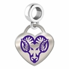 West Chester Golden Rams Color Heart Dangle