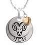West Chester Golden Rams MOM Necklace with Heart Charm