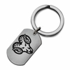 West Chester Golden Rams Stainless Steel Key Ring
