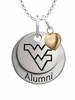 West Virginia Mountaineers Alumni Necklace with Heart Accent