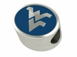 West Virginia Mountaineers Enamel Bead