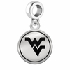 West Virginia Mountaineers Border Round Dangle Charm