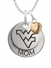 West Virginia Mountaineers MOM Necklace with Heart Charm