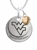 West Virginia Mountaineers with Heart Accent