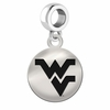 West Virginia Round Dangle Charm