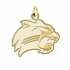 Western Carolina Catamounts 14K Yellow Gold Natural Finish Cut Out Logo Charm
