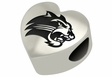 Western Carolina Catamounts Heart Shape Bead