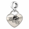 Western Carolina Engraved Heart Dangle Charm