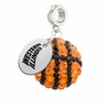 Western Illinois Crystal Drop Charm