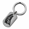 Western Illinois Fighting Leathernecks Stainless Steel Key Ring