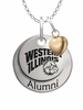 Western Illinois Leathernecks Alumni Necklace with Heart Accent