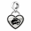 Western Carolina Catamounts Border Heart Dangle Charm