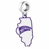 Western Illinois Leathernecks Logo Dangle Charm