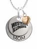 Western Illinois Leathernecks MOM Necklace with Heart Charm