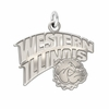Western Illinois Leathernecks Natural Finish Charm