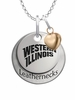 Western Illinois Leathernecks with Heart Accent