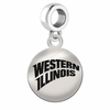 Western Illinois Round Dangle Charm