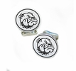 Western Illnois Fighting Leatherneck Sterling Silver Cufflinks