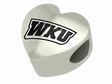 Western Kentucky Hilltoppers  Heart Shape Bead