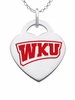 Western Kentucky Hilltoppers Color Logo Heart Charm