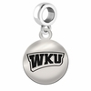 Western Kentucky Hilltoppers Round Dangle Charm