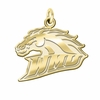 Western Michigan Broncos 14K Yellow Gold Natural Finish Cut Out Logo Charm