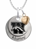 Western Michigan Broncos Alumni Necklace with Heart Accent