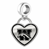 Western Michigan Broncos Border Heart Dangle Charm