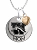 Western Michigan Broncos MOM Necklace with Heart Charm