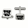 Western Michigan Broncos Stainless Steel Cufflinks