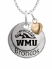 Western Michigan Broncos with Heart Accent